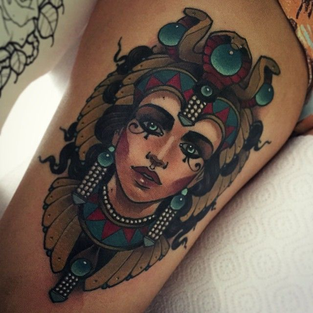 25 Best Ideas About Egyptian Queen Tattoos On Pinterest Ideas And Designs