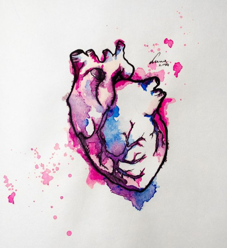 Watercolor Heart Tattoo Google Search Mother Daughter Ideas And Designs