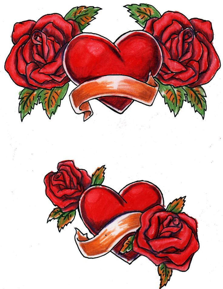 Large Free Printable Tattoo Designs Hearts And Roses Ideas And Designs