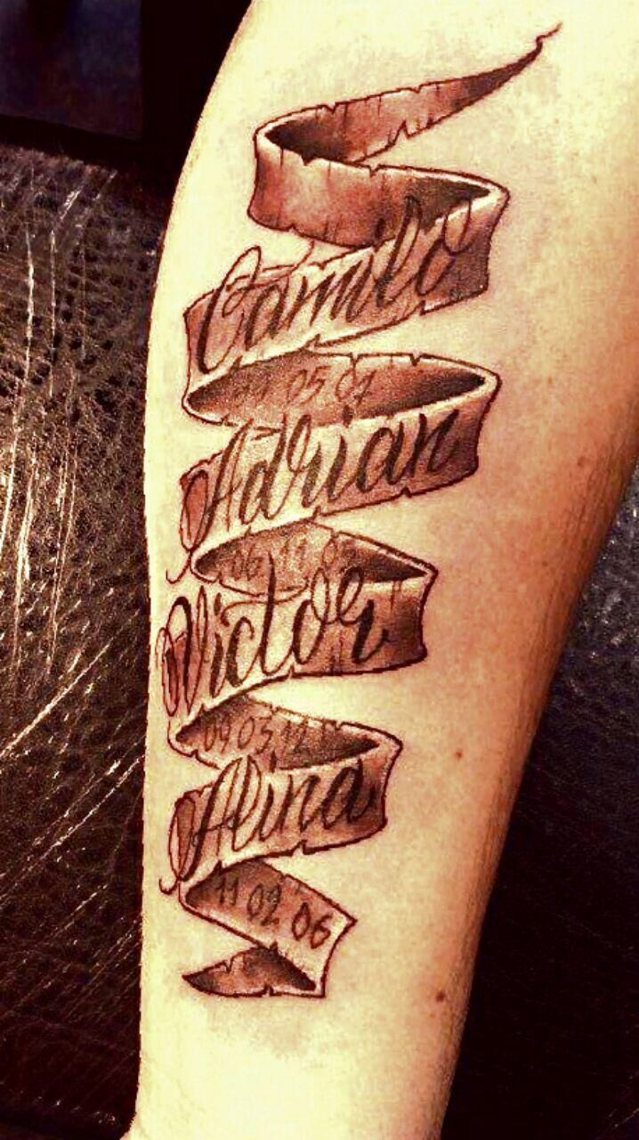 Tattoo With My Kids Name On Their Dads Arm Tatoos Ideas And Designs