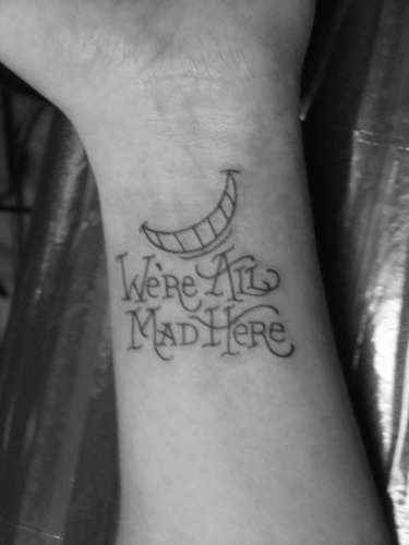 Wrist Tattoo Cheshire Cat And Alice In Wonderland On Ideas And Designs