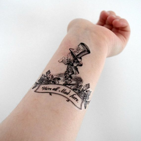 25 Best Mad Hatter Tattoo Ideas On Pinterest Mad Hatter Ideas And Designs