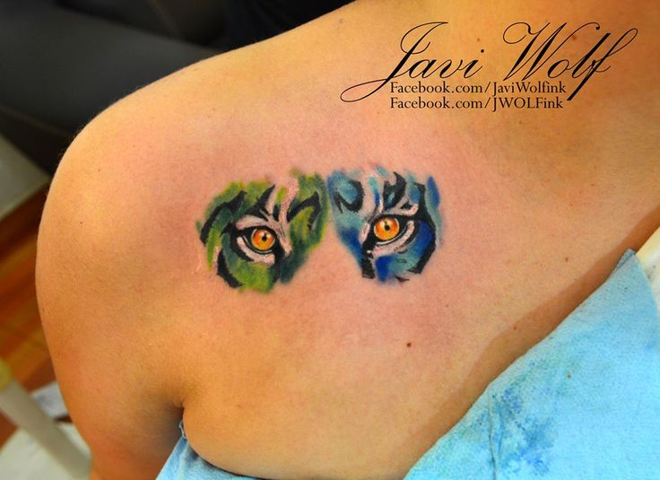 Watercolor Tattoo Eyes Of Tiger Tattooed By Javi Wolf Ideas And Designs