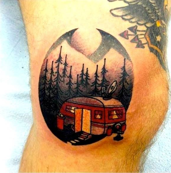 103 Best Images About Vw Bus Camping Tattoos On Ideas And Designs