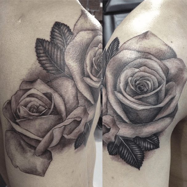 3D Flower Tattoos In Black And White Tattoo Pinterest Ideas And Designs