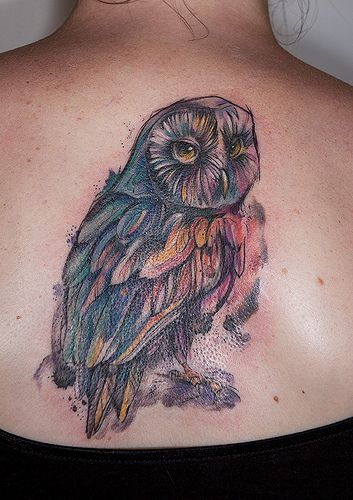 Owl By Kaleidoscope Tattoo Maija Abstract Watercolor Ideas And Designs