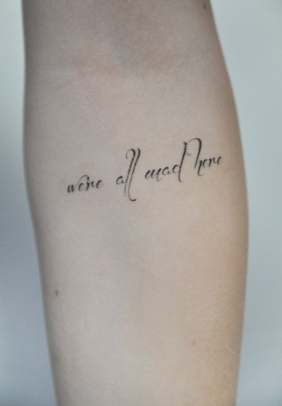 Temporary Tattoo Quote Tattoo Temporary Alice In Ideas And Designs