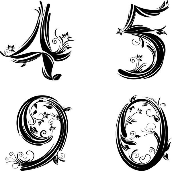 Pretty Number Font 2 … Pinteres… Ideas And Designs