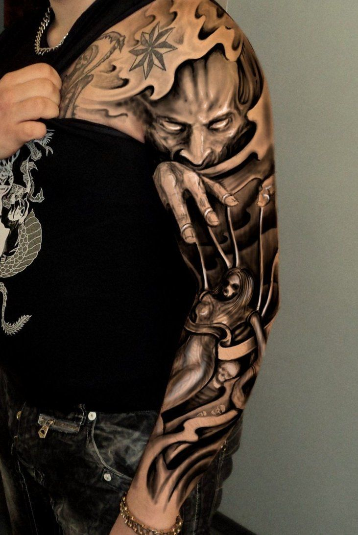 Japanese Tattoo Ideas For Sleeve 3D Chest Tattoo 3D Ideas And Designs