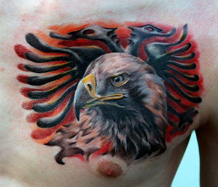 Albanian Eagle Tattoo Done By Poppay Tattoo Studio Ideas And Designs
