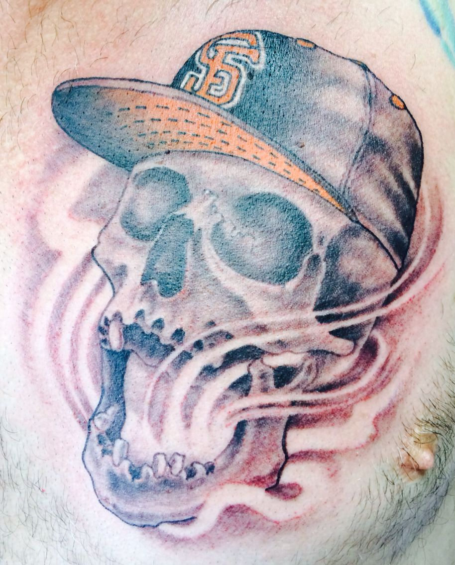 Sf Giants Skull Tattoo By Nephtali Lefty Brugueras Jr 12 Ideas And Designs