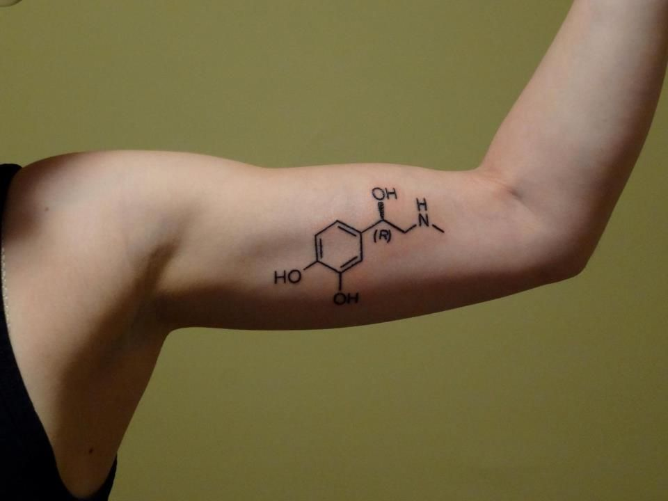 Chemical Structure Of Adrenaline I Live For The Feeling Ideas And Designs