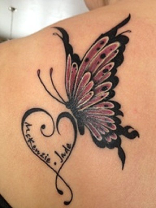 3D Shoulder Art Name Tattoo Designs For Women Best Ideas And Designs