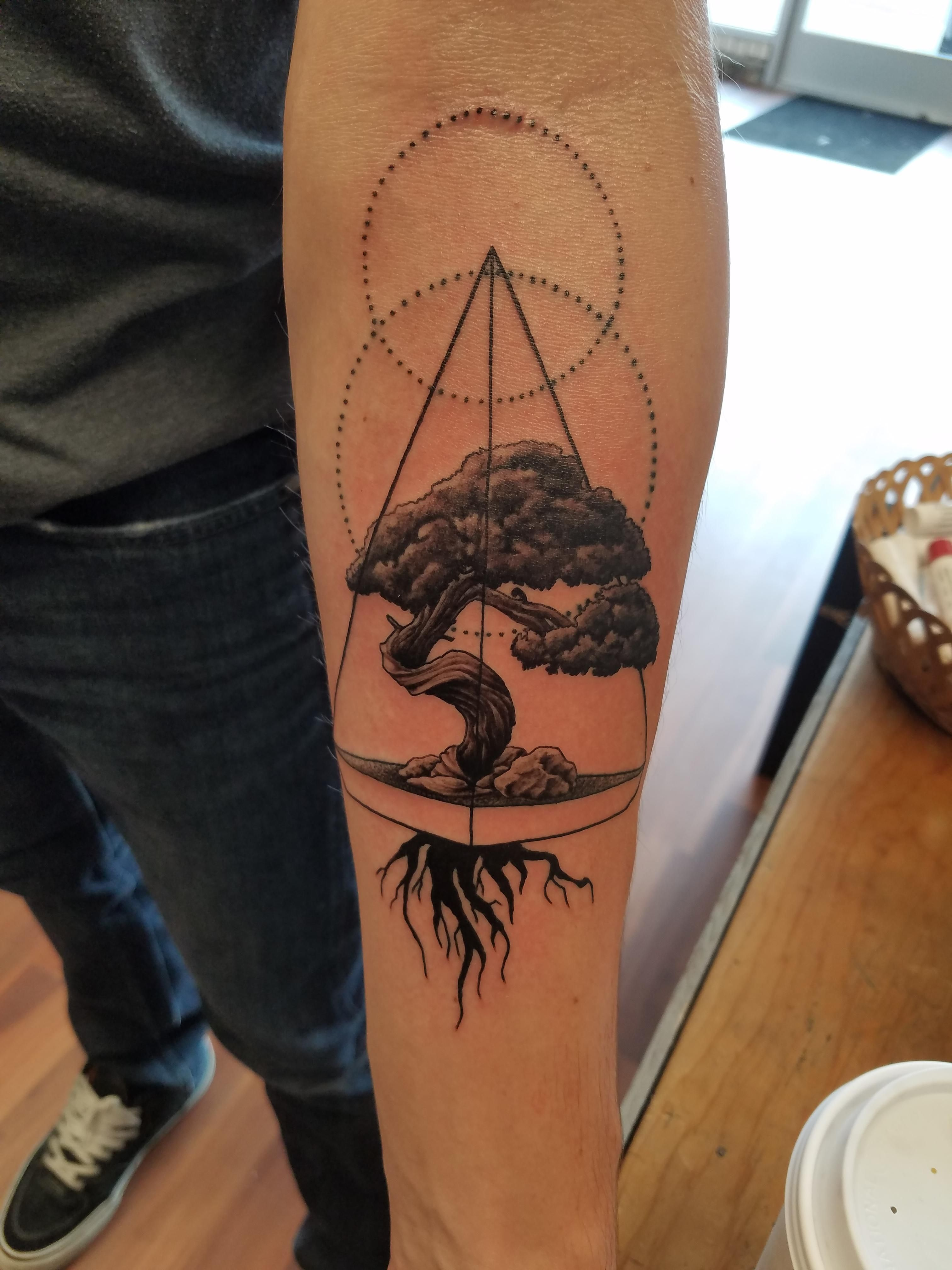 Bonsai Tree By Duke At Art Soul Tattoo Middleton Wi Ideas And Designs