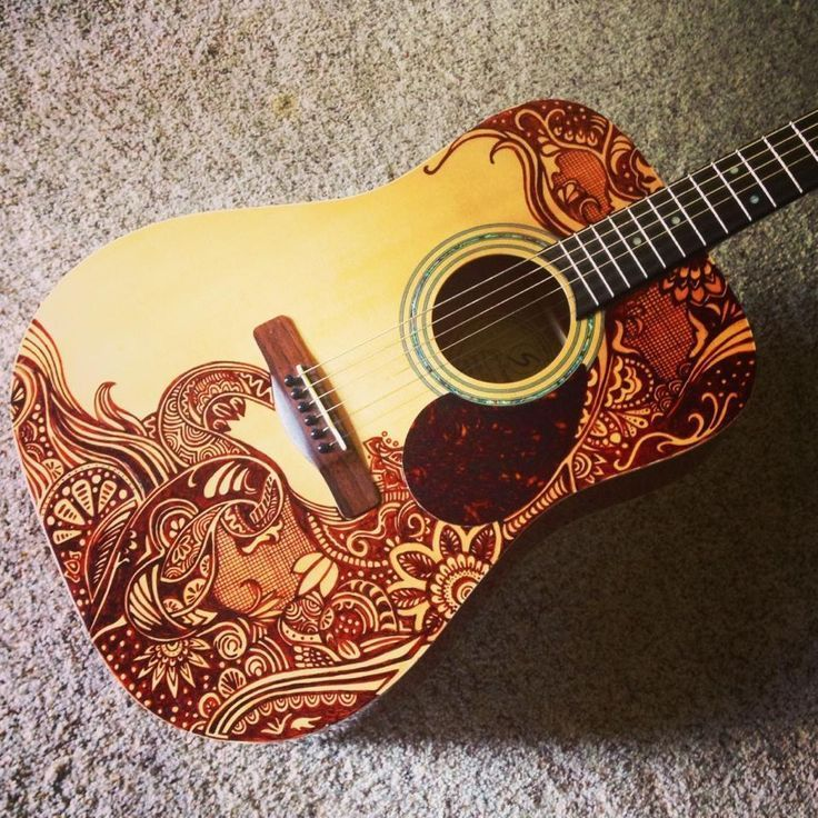 A Well Sharpied Acoustic Guitar Followpics Cool Ideas And Designs