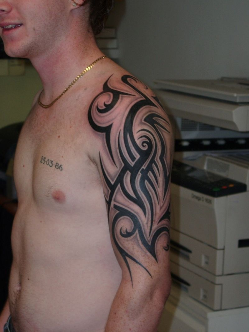 Half Sleeve Tattoos For Men Tribal Full And Half Sleeve Ideas And Designs