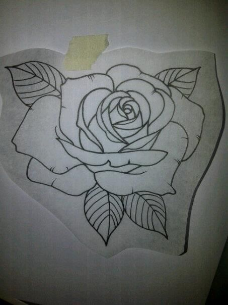 Rose Outline For A Customer Tomorrow Skin Art Ideas And Designs