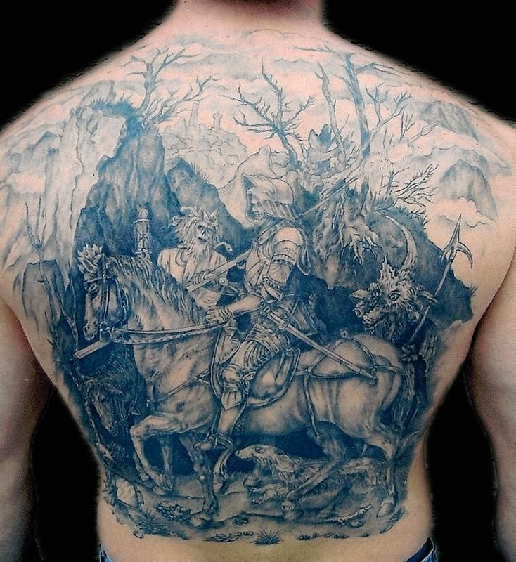 Durer Woodcut Tattoo I Don T Usually Gush Over Ink But Ideas And Designs