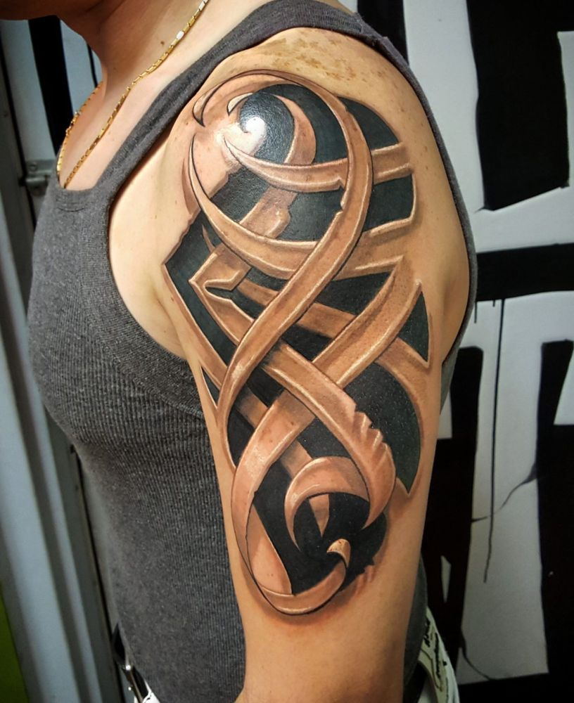 Tribal 3D Tattoo Tattoos Pinterest 3D Tattoos Ideas And Designs