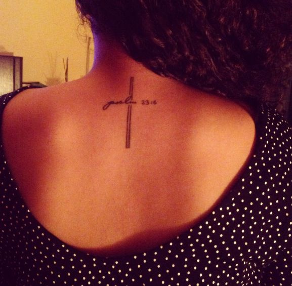My Cross Tattoo It Says Psalm 23 4 Tattoos Pircings Ideas And Designs