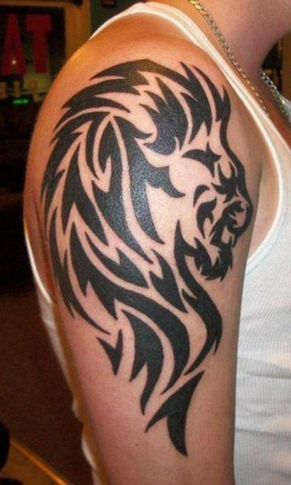 50 Examples Of Lion Tattoo Tribal Lion Tattoo Tribal Ideas And Designs