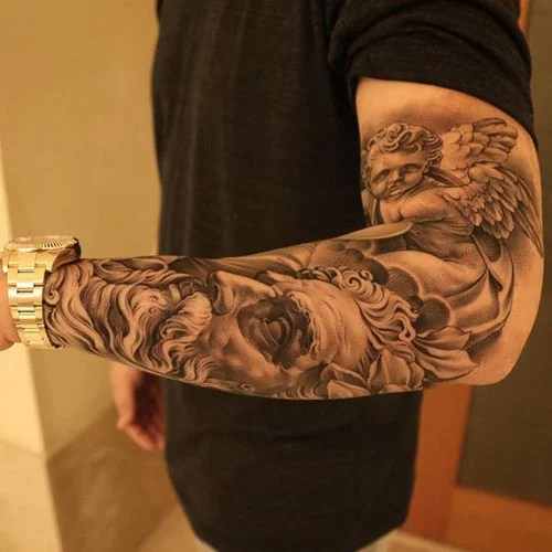 101 Best Angel Tattoos For Men Cool Designs Ideas 2019 Ideas And Designs