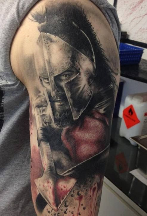 Full Sleeve 300 Movie Tattoo Ideas And Designs