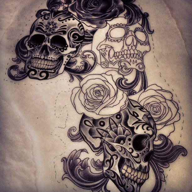 5 Sugar Skull Tattoo Design Ideas Ideas And Designs