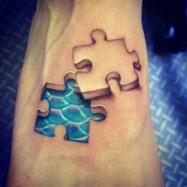 22 Amazing Puzzle Tattoo Designs Images And Pictures Ideas And Designs