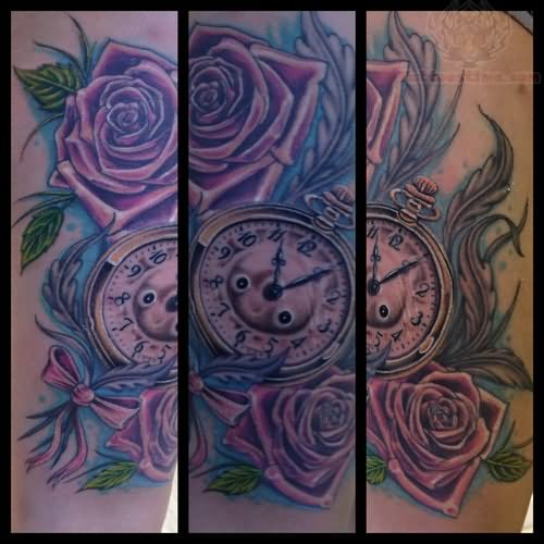 28 33 Awesome Purple Rose Tattoos 10 White Sles And Ideas And Designs