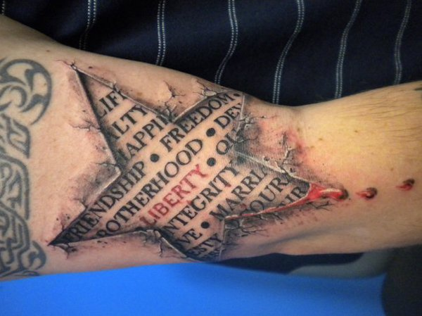 20 3D Star Tattoo Images Pictures And Design Ideas Ideas And Designs