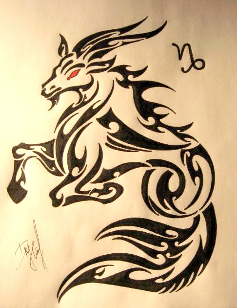 25 Tribal Capricorn Tattoos For Men Ideas And Designs