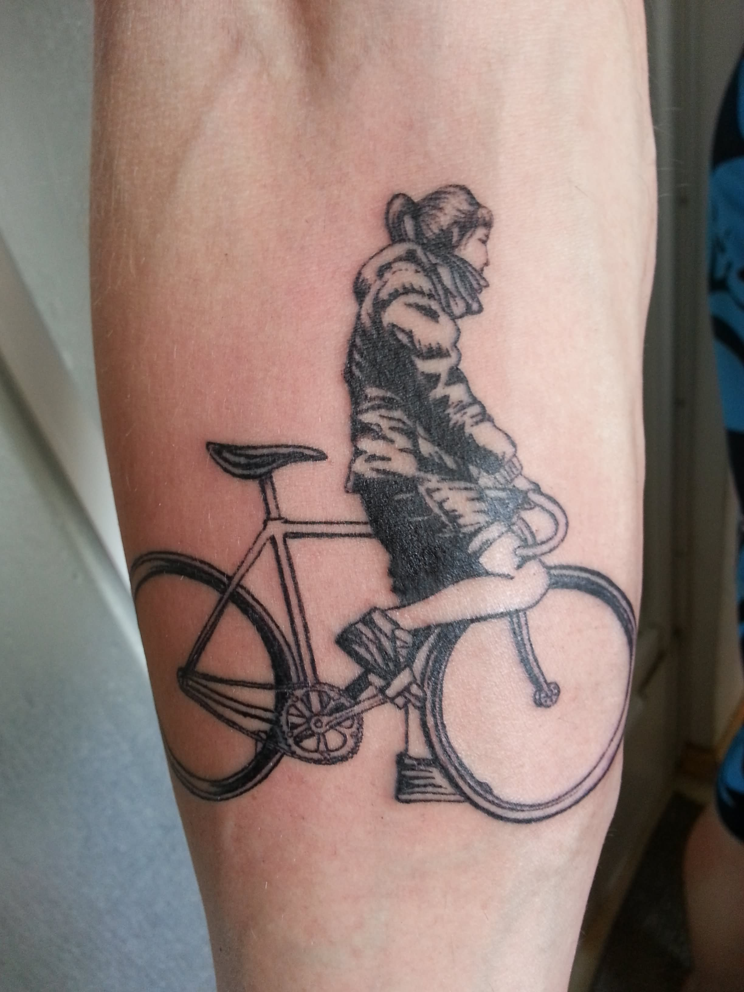 40 Cool Mountain Bike Tattoos Ideas And Designs