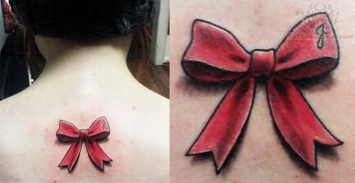 8 Awesome Ribbon Tattoos On Upper Back Ideas And Designs