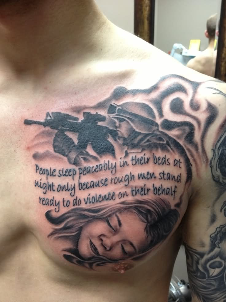 41 Military Quotes Tattoos Ideas And Designs