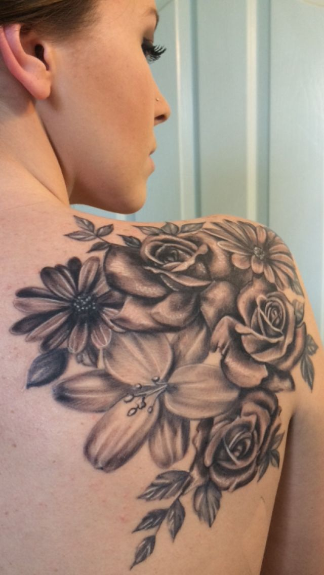 36 Beautiful Shoulder Flower Tattoos Ideas And Designs