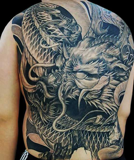 Amazing Dragon Tattoo On Full Back By B*M Choi Ideas And Designs