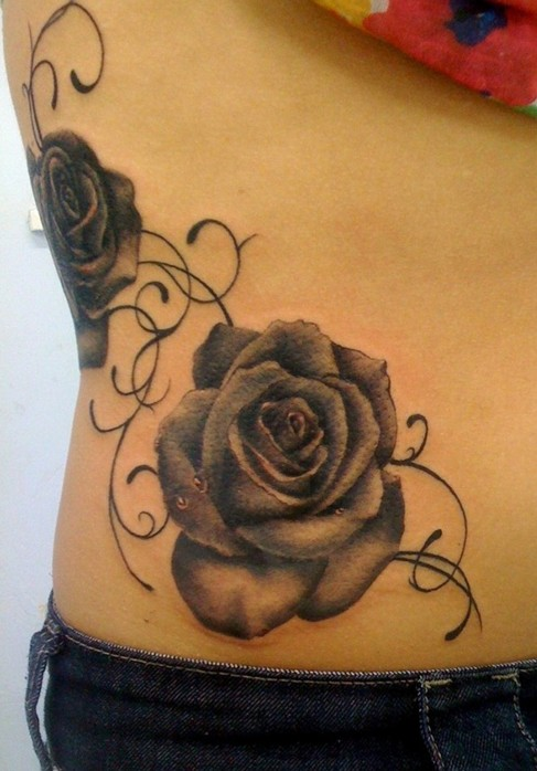 44 Awesome Hip Rose Tattoos Ideas And Designs