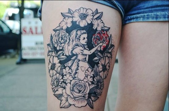 30 Cool Alice In Wonderland Tattoos Ideas And Designs