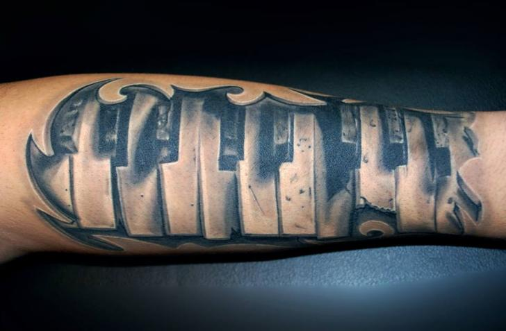 30 Piano Tattoos On Forearm Ideas And Designs