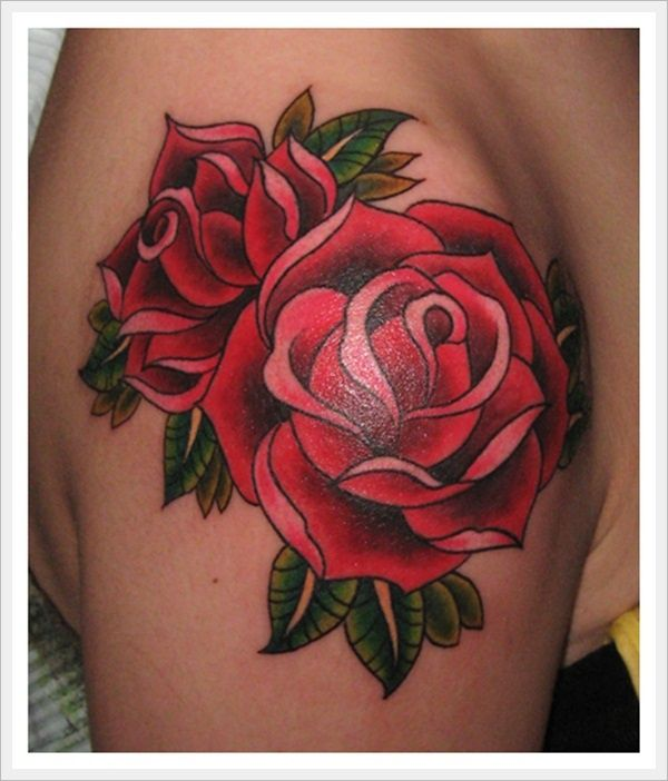 48 Beautiful Old School Flowers Tattoos Ideas And Designs