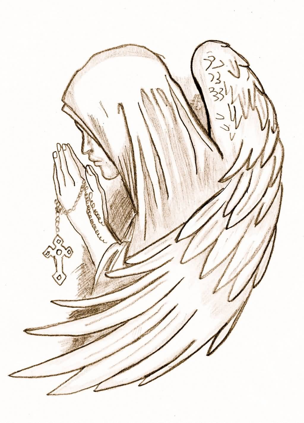 Praying Angel Tattoo Design By Peaches1993 D5Bn3Kl Ideas And Designs