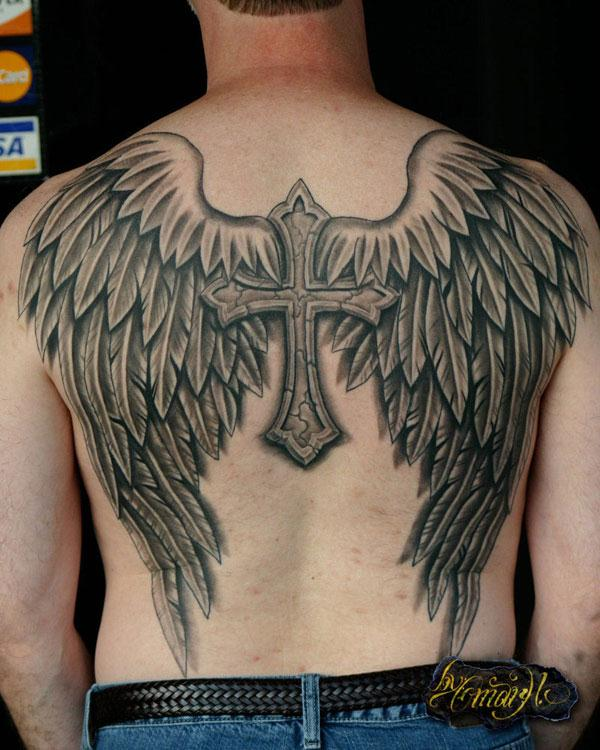 54 Angel Tattoos On Full Back Ideas And Designs