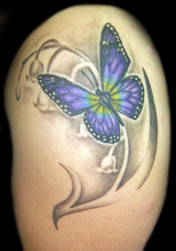 55 Butterfly Flower Tattoos Ideas And Designs