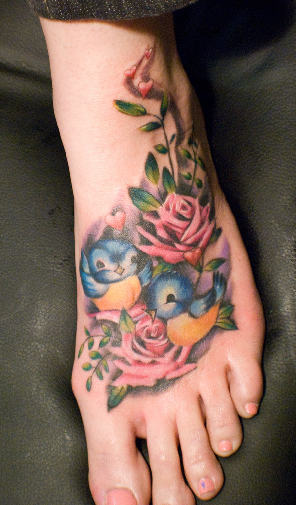 35 Bird Tattoos On Foot Ideas And Designs