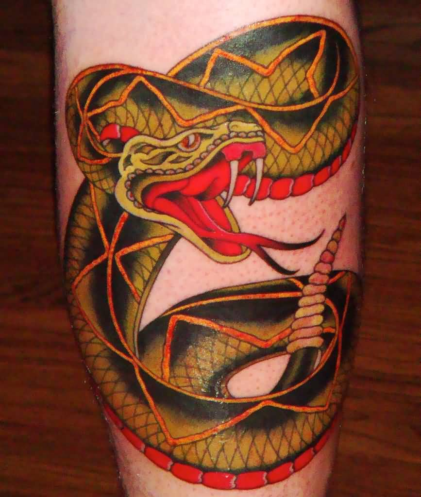 43 Rattle Snake Tattoos Ideas And Designs