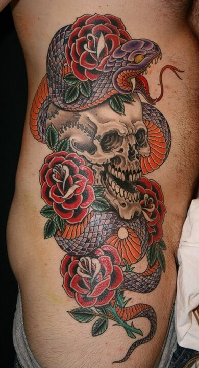 33 Snake And Rose Tattoos Ideas And Designs