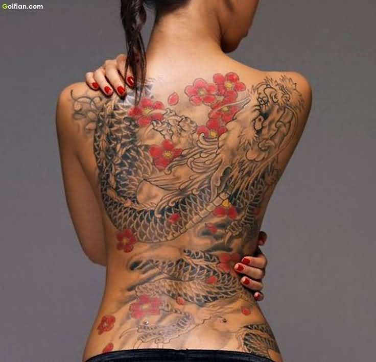 57 Dragon Tattoos On Full Back Ideas And Designs