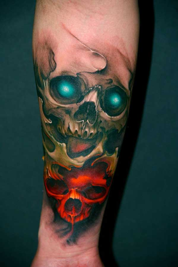 Forearm 3D Skull Tattoo Ideas Ideas And Designs