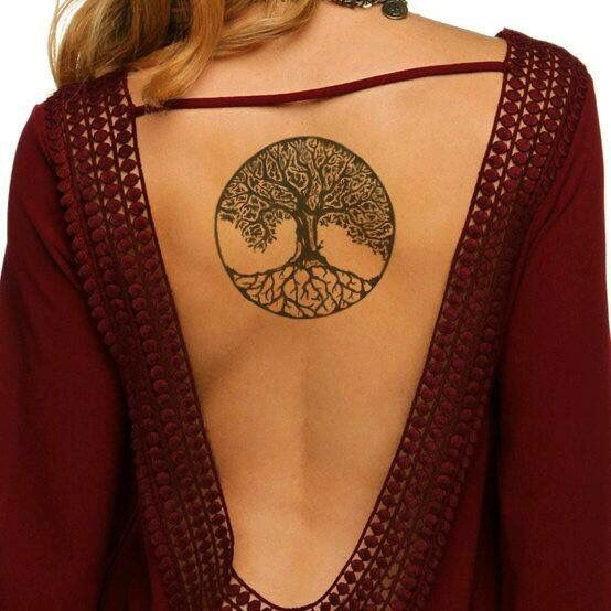 Ash Tree Tattoo On Girl Upper Back Ideas And Designs